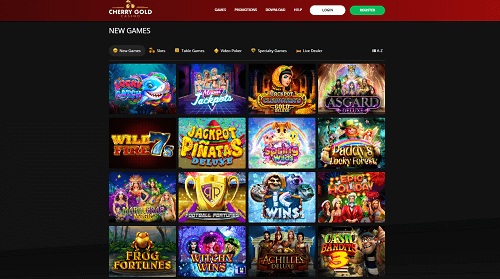 Cherry Gold Casino Games and Software