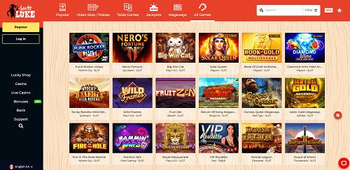 Lucky Luke Casino Games & Software Providers