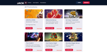Casino Bonuses and Promotions at Jack21 Casino