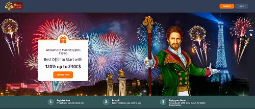 MonteCrytops Casino Bonuses and Promotions