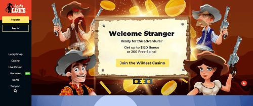 Bonuses and Promos at Lucky Luke Casino